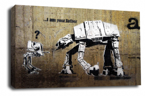 Banksy Art Star Wars Canvas Wall Art Peace Love Picture